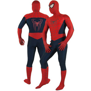 通気 柔らかい レッド スパイダーマン 全身タイツ 仮装 コスチューム