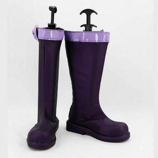 カーニヴァル キイチ 暗紫色 合皮 ゴム底 低ヒール コスプレブーツ