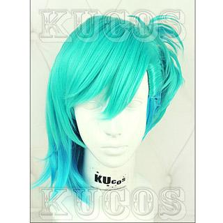 うたの☆プリンスさまっ♪ マジLOVE2000% 美風 藍 ショート ブルー マルチカラー コスプレウィッグ