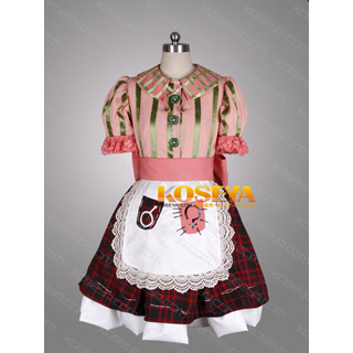 Alice: Madness Returns East Dollhouse Pink Cosplay Costume