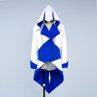 アサシン クリード III コナー/ラドンハゲードン 白と青 ジャケット コスプレ衣装