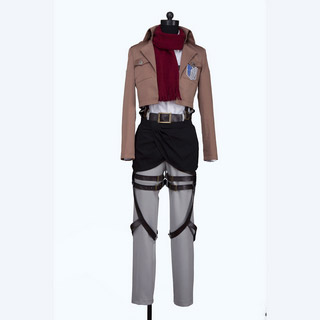 Attack on Titan Survey Legion Mikasa Ackerman Cosplay Costume