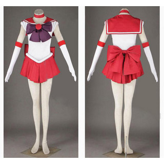 Sailor Moon Hino Rei Battle uniform Cosplay Costume