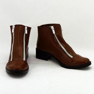 スーパーダンガンロンパ2 さよなら絶望学園 狛枝凪斗(こまえだ なぎと) ブラウン 合皮 ゴム底 低ヒール コスプレ靴
