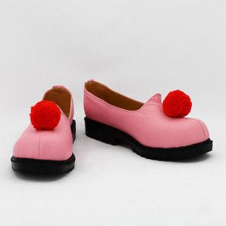 カードキャプターさくら パワー ピンク 合皮 ゴム底 低ヒール コスプレ靴
