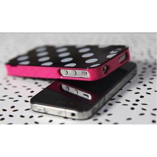 黒/白ドット3点セット iPhone4/4s ケース 更に進化 携帯ケース