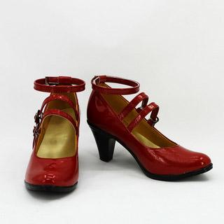 ダンガンロンパ 希望の学園と絶望の高校生 セレスティア・ルーデンベルク レッド 合皮 ゴム底 ハイヒール コスプレ靴