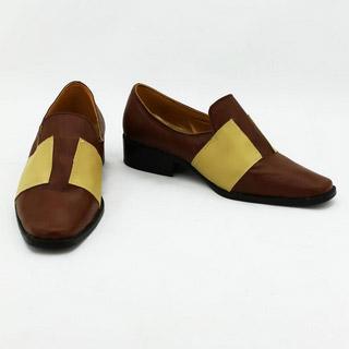 英雄伝説 碧の軌跡 ランディ・オルランド ブラウン 合皮 ゴム底 低ヒール コスプレ靴