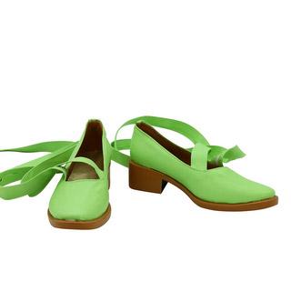 しゅごキャラ! 日奈森 亜夢(ひなもり あむ) 緑 合皮 ゴム底 ミドルヒール コスプレ靴