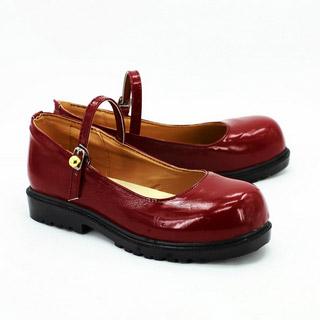 ジョジョの奇妙な冒険 エリナ・ペンドルトン・ジョースター レッド 合皮 ゴム底 低ヒール コスプレ靴
