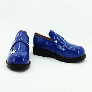 東方project 東風谷早苗 (こちやさなえ) ブルー 合皮 ゴム底 低ヒール コスプレ靴