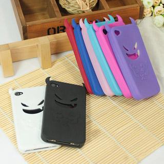 iPhone4/4s ケース 悪魔のソフトシリコン 携帯ケース
