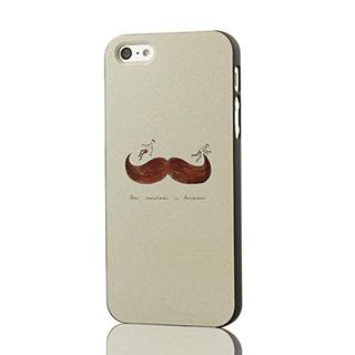 iPhone5 ケース  おもしろ茶褐色ひげ pcプラスチック携帯ケース