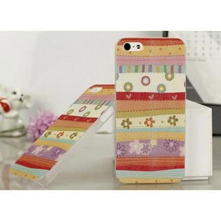花もよう 携帯ケース pcプラスチック iPhone5 ケース