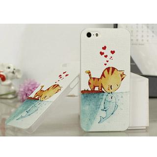 キス 携帯ケース 可愛いキャットモチーフ iPhone5 ケース