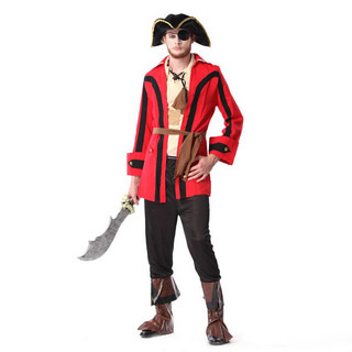 Halloween Pirates of the Caribbean Party Male Cosplay Costume