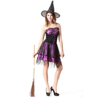 Halloween Witch purple skirt Party Cosplay Costume