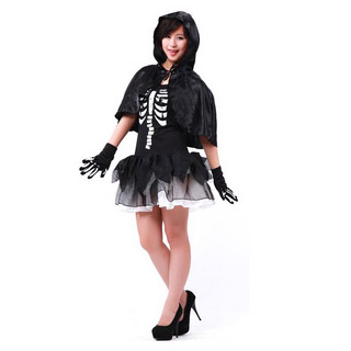 Halloween Skull Set Female Party Cosplay Costume