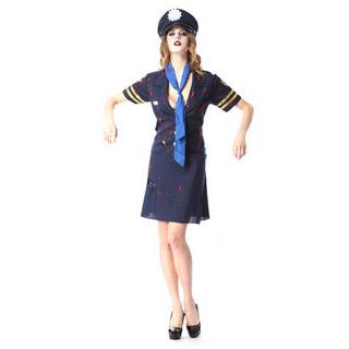 Halloween Zombie Police Female Party Cosplay Costume