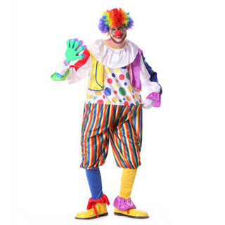 Halloween Magic Clown Male Party Cosplay Costume