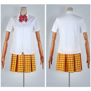 Yowamushi Pedal Bicycle Club Girl's White Summer Uniform Cosplay Costume