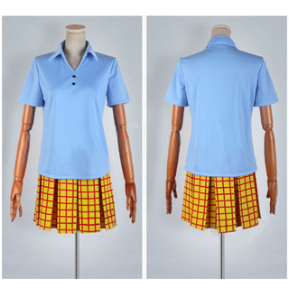 Yowamushi Pedal Bicycle Club Girl's Blue Summer Uniform Cosplay Costume