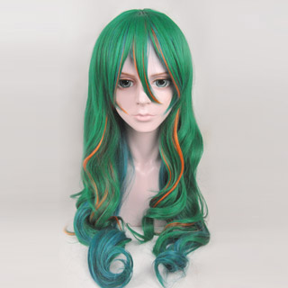 弱虫ペダル 巻島 裕介(まきしま ゆうすけ) 緑色 ロング コスプレウィッグ