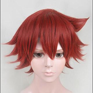 弱虫ペダル 鳴子 章吉(なるこ しょうきち) 赤色 ショート コスプレウィッグ
