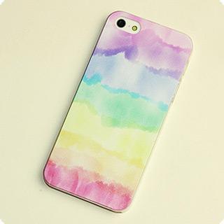 アイフォーン携帯ケース  うつくしいレインボー iPhone5 ケース