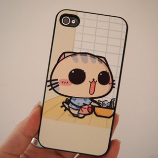 iPhone ケース かわいいキャット pcプラスチック携帯ケース