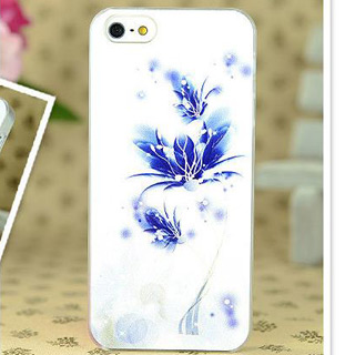 花模様 携帯ケース pcハード材質 カバー iPhone4/4s/5/5s ケース