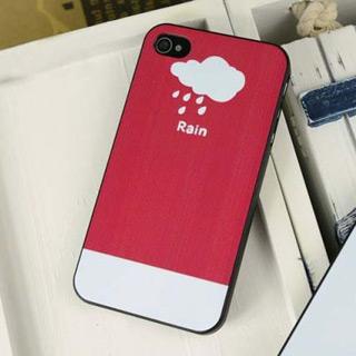 携帯ケース 可愛い雲 iPhone4/4s/5 ケース pcハード材質