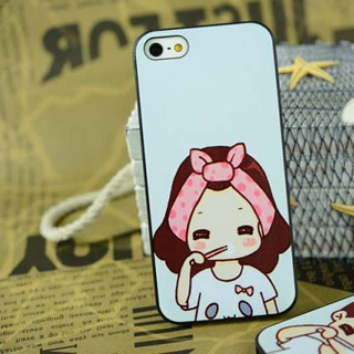 かわいいi女 携帯ケース pcハード材質 iPhone4/4s/5 ケース