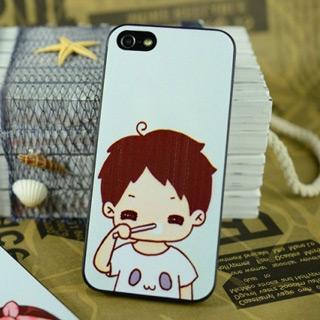 かわいいi男 携帯ケース pcハード材質 iPhone4/4s/5 ケース