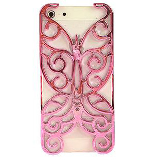 透かし彫り蝶 上品な携帯ケース iPhone5 ケース