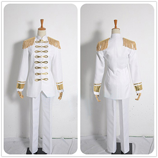Attack on Titan Levi White military uniform Cosplay Costume
