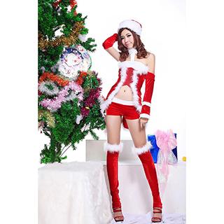 クリスマス コスチューム セクシー ピカピカ サンタ衣装
