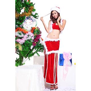 クリスマス コスチューム 中華風 ドレス サンタ衣装