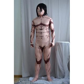 進撃の巨人 エレン・イェーガー 巨人化 ライクラ スパンデックス 全身タイツ