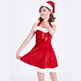 クリスマス コスチューム レディースサンタ衣装 女性用 ジェニーサンタ ワンピース
