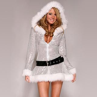 クリスマス コスチューム セクシー ピカピカ ワンピース サンタ衣装