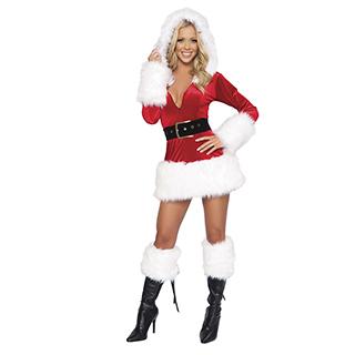 クリスマス サンタ衣装 女性用 コスチューム レディース サンタガールコート