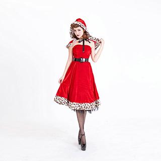 クリスマス サンタ コスプレ 激安 サンタ衣装 ヒョウ柄 サンタコス コスチューム