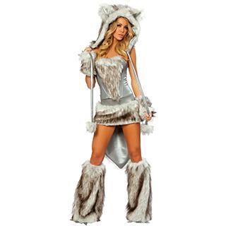 クリスマス コスチューム セクシー 猫女 ネコ女 コス衣装(5点セット) サンタ衣装