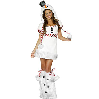 クリスマス コスチューム 可愛い 雪だるま コス衣装(3点セット) サンタ衣装