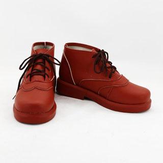境界の彼方 栗山 未来(くりやま みらい) レッド 合皮 ゴム底 低ヒール コスプレ靴