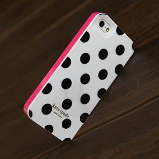 キュート ドットケース 赤枠 iPhone5s ケース 4色あり 携帯ケース