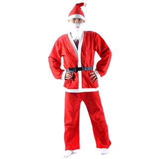 クリスマス メンズサンタ衣装 男性用 スーツ セット衣装B コスチューム 仮装グッズ コスプレ 激安 安い コスプレ衣装