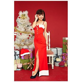 クリスマス サンタ コスプレ 胸の帯を締めるドレス フリーサイズ セクシー ドレス 激安 サンタ 衣装 クリスマス コスチューム 仮装グッズ コスプレ衣装