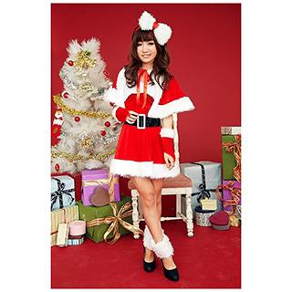 クリスマス サンタコスプレ 舞台ドレス 蝶結び フリーサイズ サンタドレス サンタ 衣装 クリスマス コスチューム 仮装グッズ コスプレ衣装
